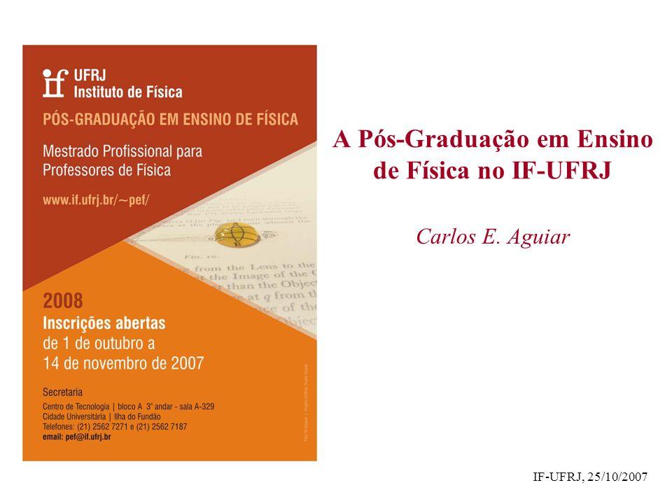 A Pós-Graduação em Ensino de Física no IF-UFRJ