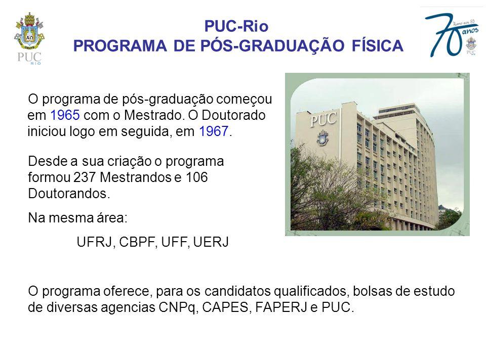 PROGRAMA DE PÓS-GRADUAÇÃO FÍSICA