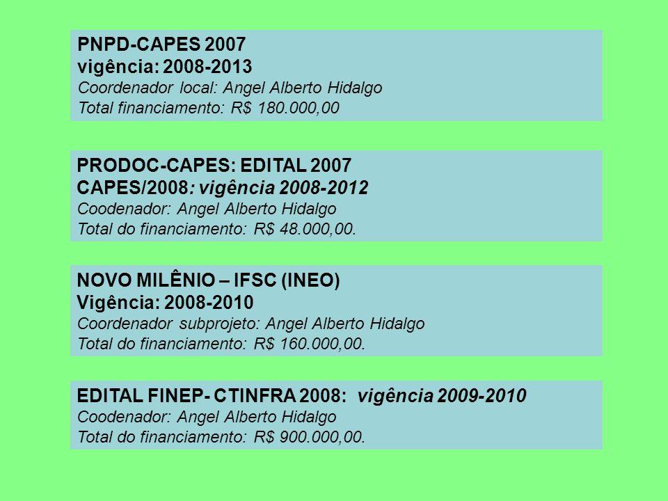 NOVO MILÊNIO – IFSC (INEO) Vigência: 2008-2010