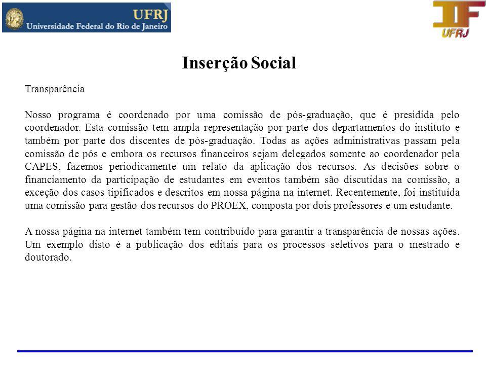 Inserção Social Transparência
