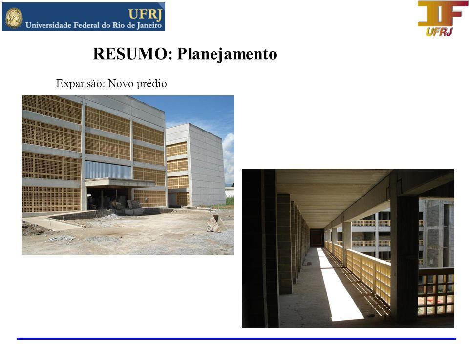 RESUMO: Planejamento Expansão: Novo prédio