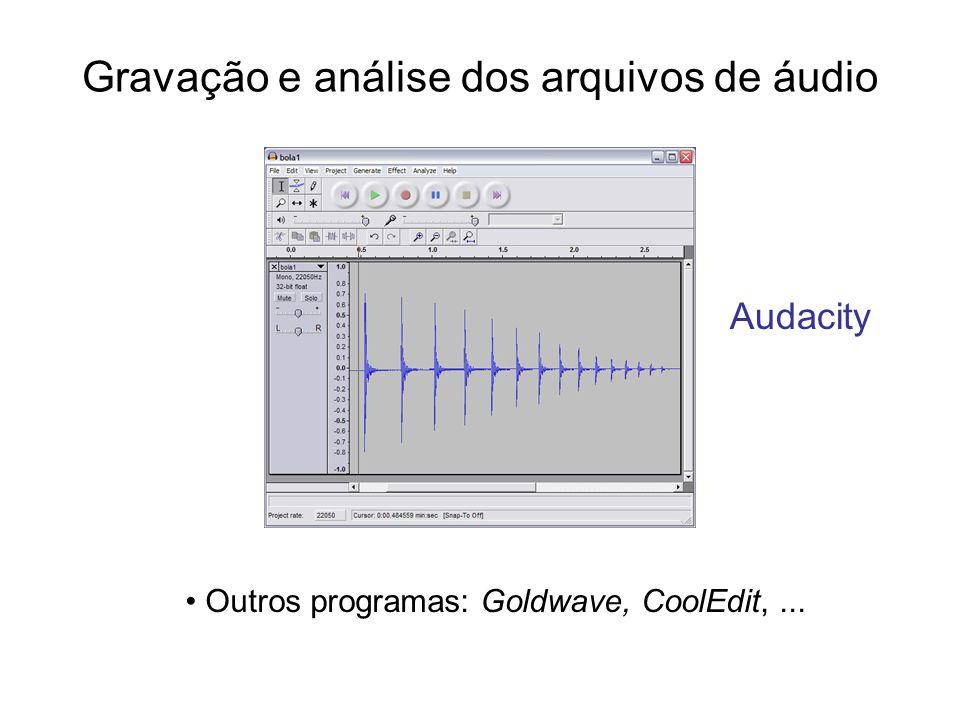 Gravação e análise dos arquivos de áudio