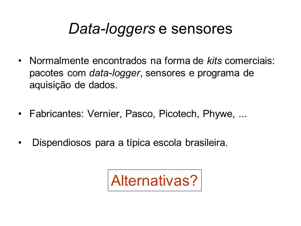 Data-loggers e sensores