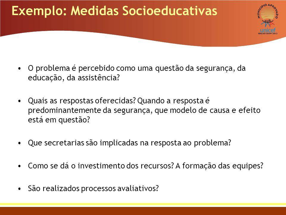 Exemplo: Medidas Socioeducativas