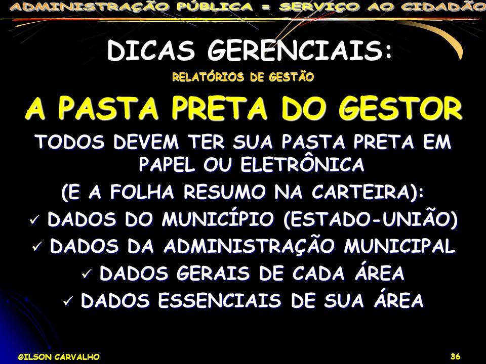 DICAS GERENCIAIS: A PASTA PRETA DO GESTOR
