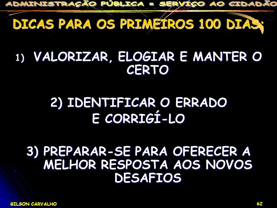 DICAS PARA OS PRIMEIROS 100 DIAS: VALORIZAR, ELOGIAR E MANTER O CERTO