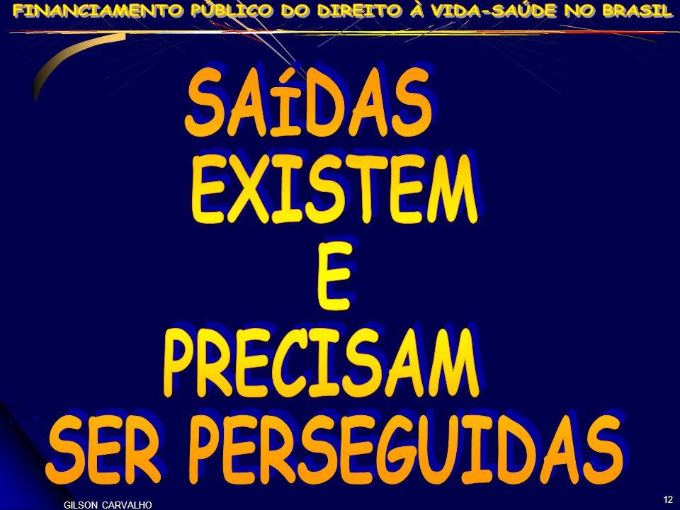 SAÍDAS EXISTEM E PRECISAM SER PERSEGUIDAS