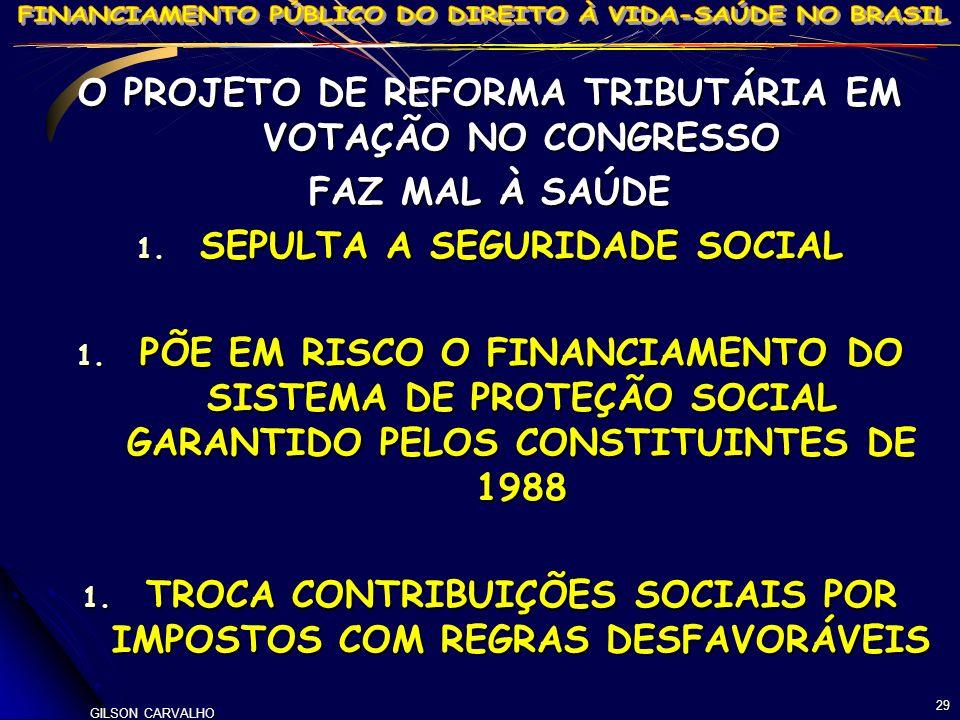 O PROJETO DE REFORMA TRIBUTÁRIA EM VOTAÇÃO NO CONGRESSO