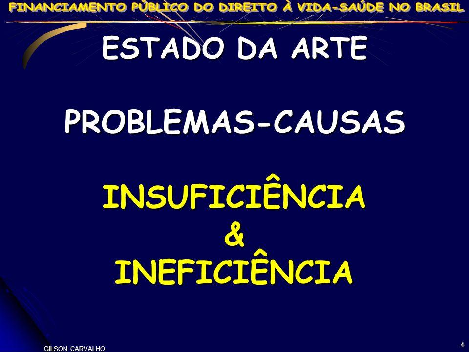 PROBLEMAS-CAUSAS INSUFICIÊNCIA & INEFICIÊNCIA
