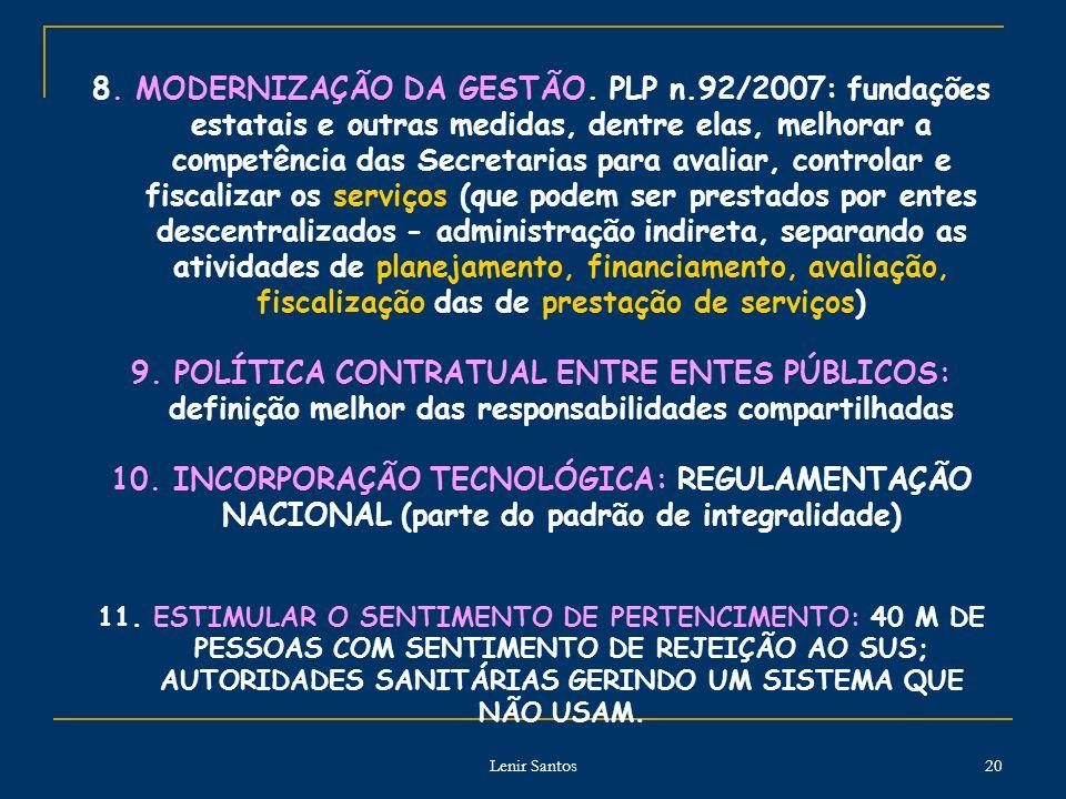 8. MODERNIZAÇÃO DA GESTÃO. PLP n