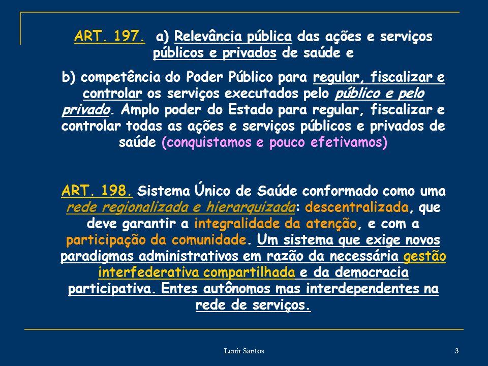 ART. 197. a) Relevância pública das ações e serviços públicos e privados de saúde e