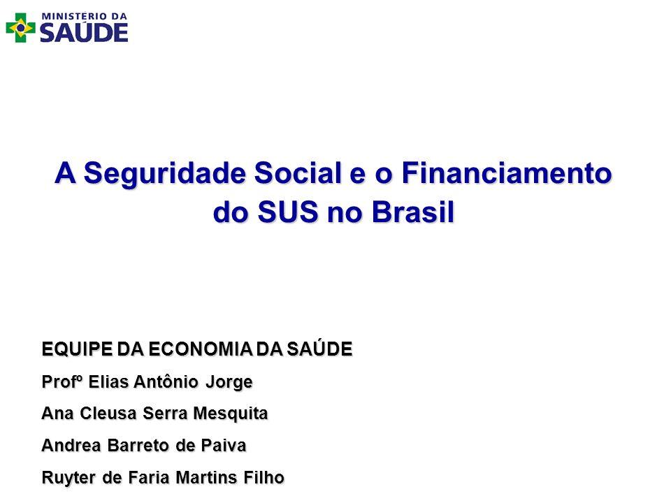A Seguridade Social e o Financiamento do SUS no Brasil
