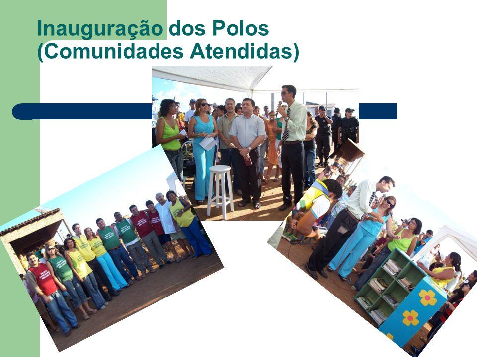 Inauguração dos Polos (Comunidades Atendidas)