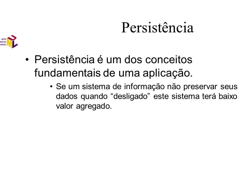 Persistência Persistência é um dos conceitos fundamentais de uma aplicação.