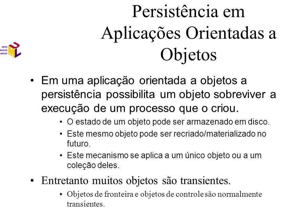 Persistência em Aplicações Orientadas a Objetos