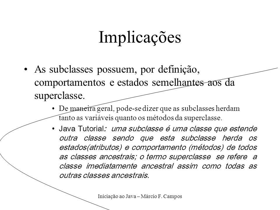 Iniciação ao Java – Márcio F. Campos