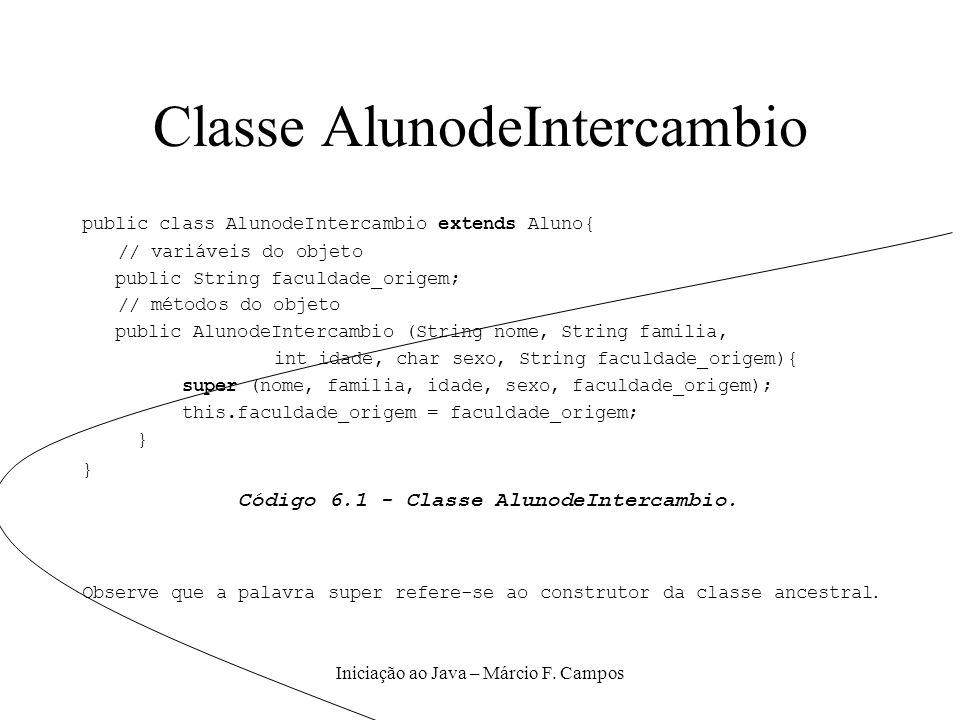 Classe AlunodeIntercambio