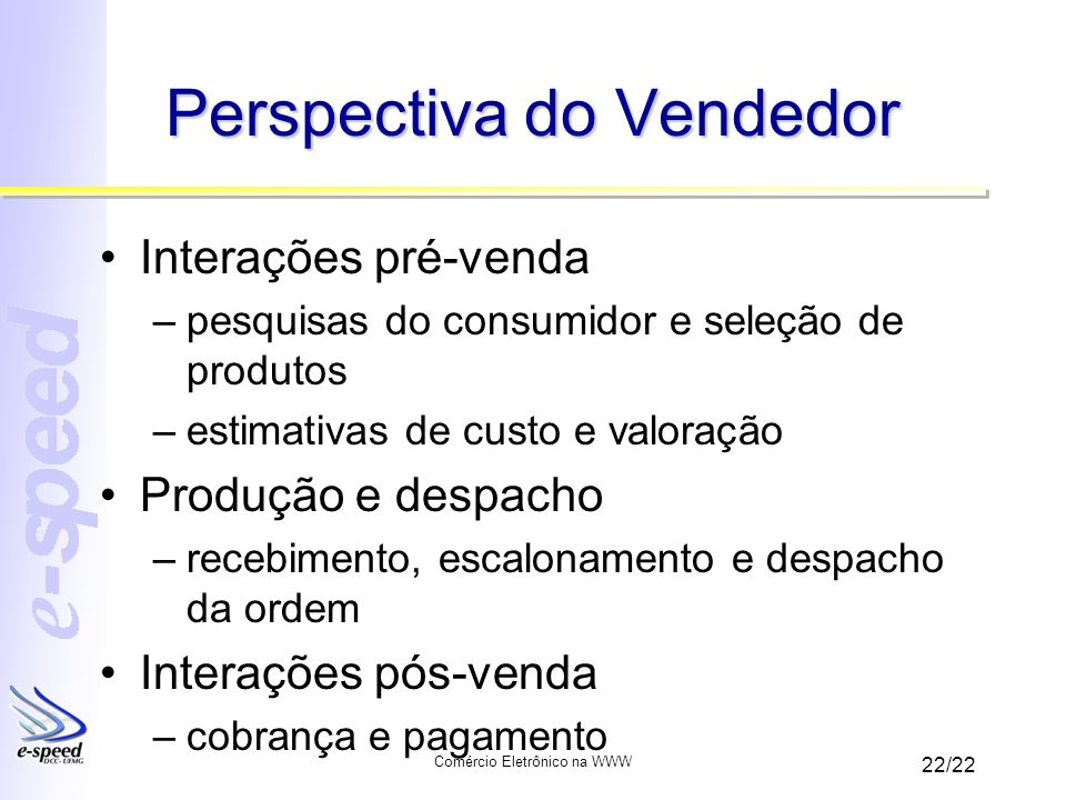 Perspectiva do Vendedor