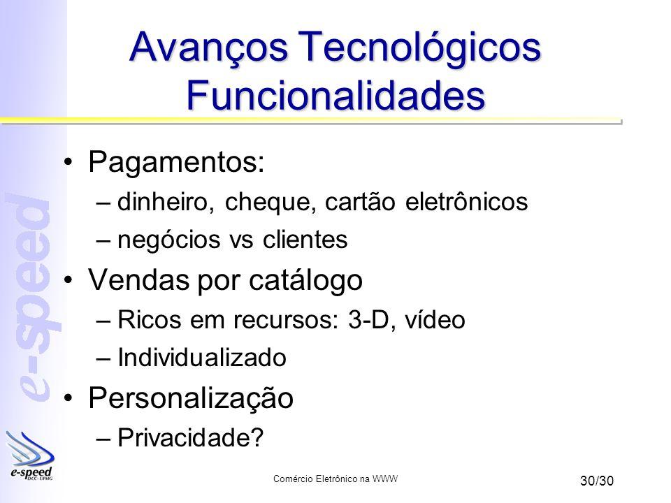 Avanços Tecnológicos Funcionalidades