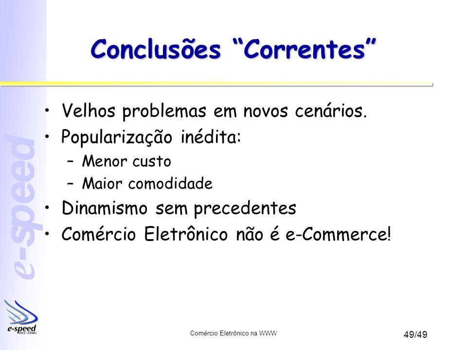Conclusões Correntes