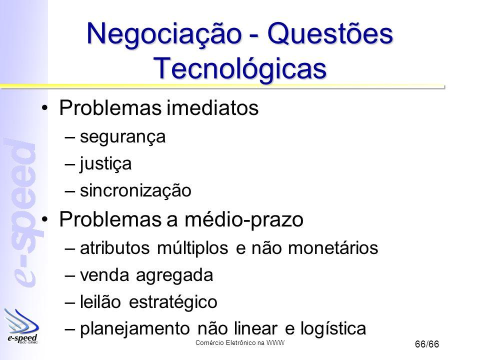 Negociação - Questões Tecnológicas