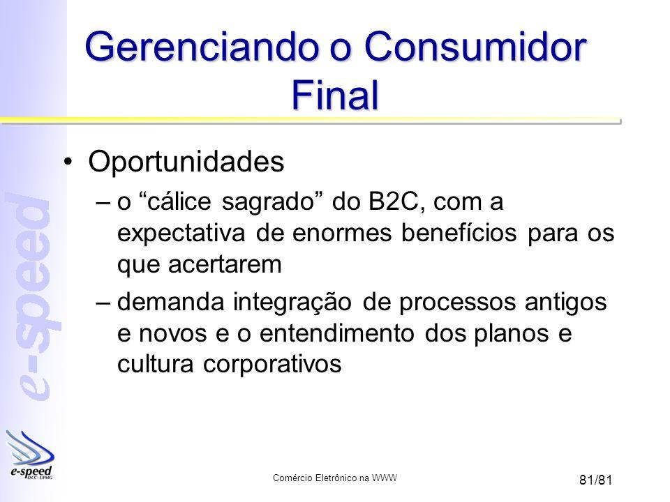 Gerenciando o Consumidor Final