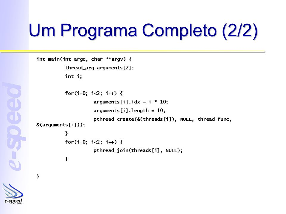 Um Programa Completo (2/2)