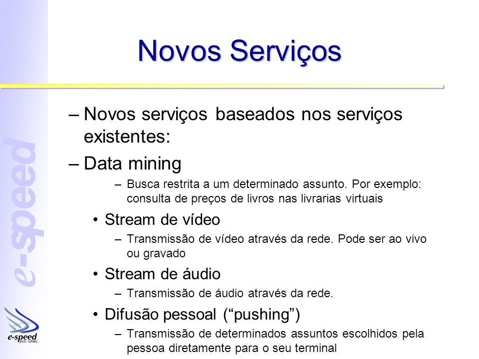 Novos Serviços Novos serviços baseados nos serviços existentes: