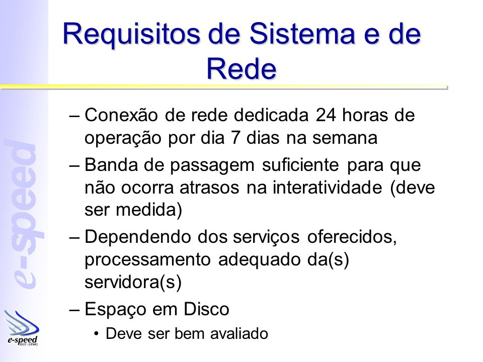Requisitos de Sistema e de Rede