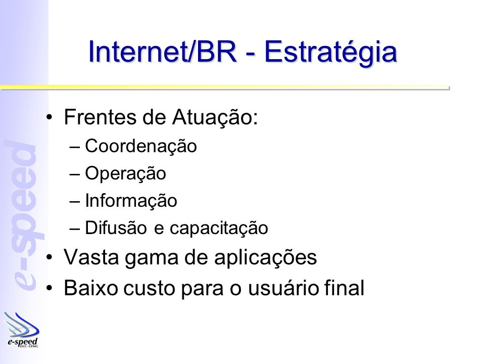 Internet/BR - Estratégia