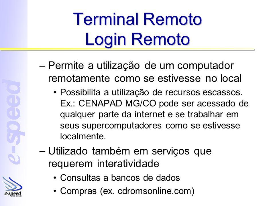Terminal Remoto Login Remoto
