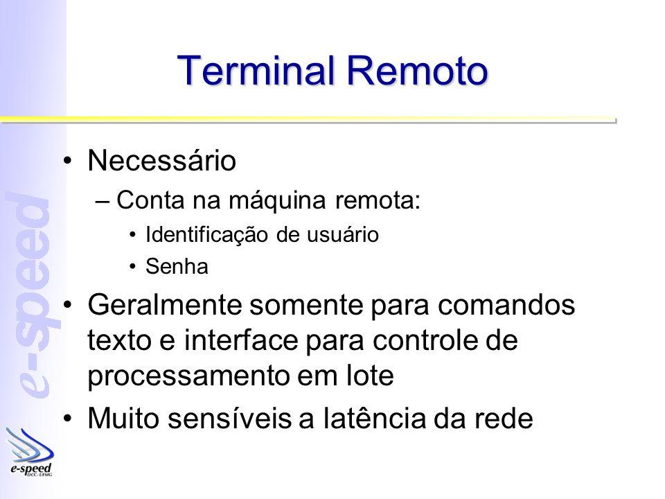 Terminal Remoto Necessário