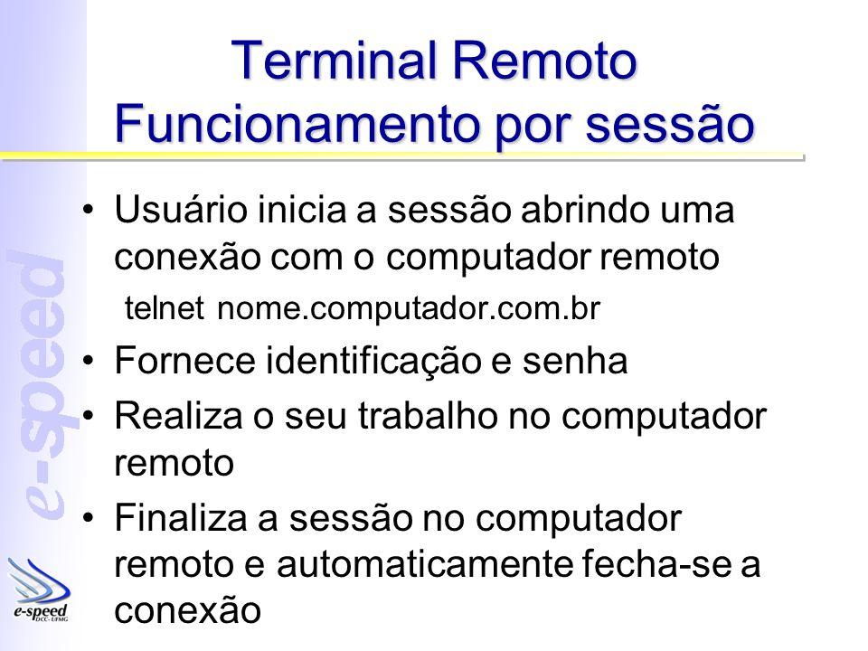 Terminal Remoto Funcionamento por sessão