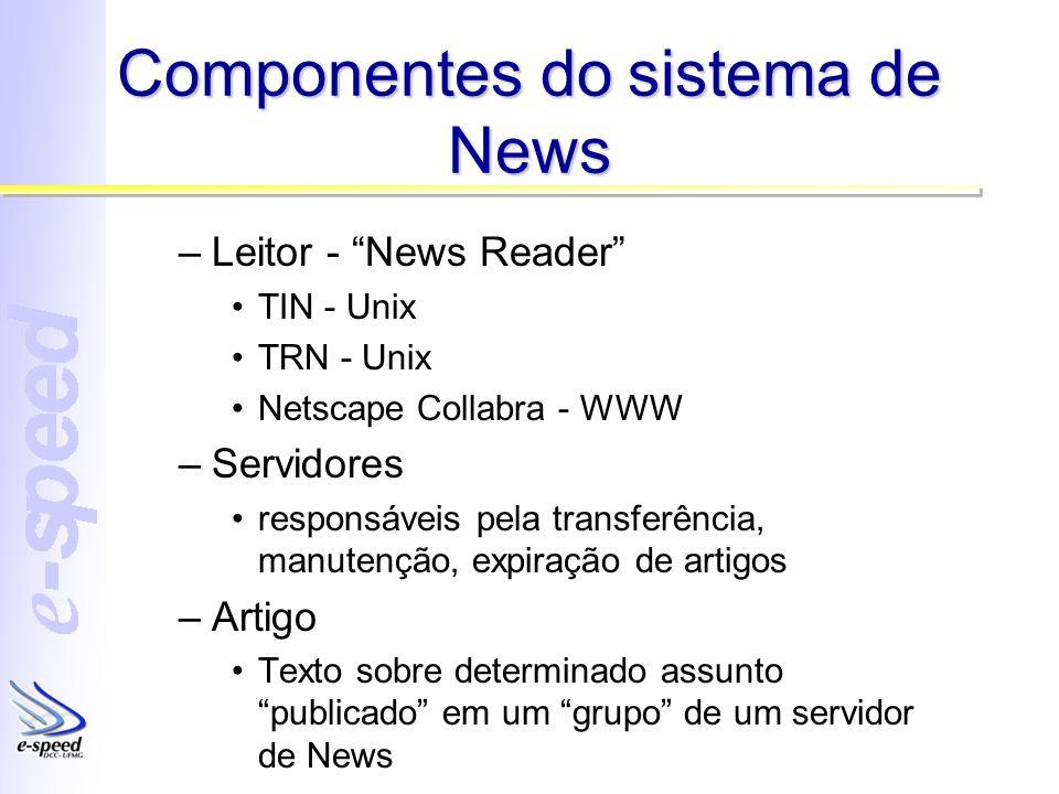 Componentes do sistema de News