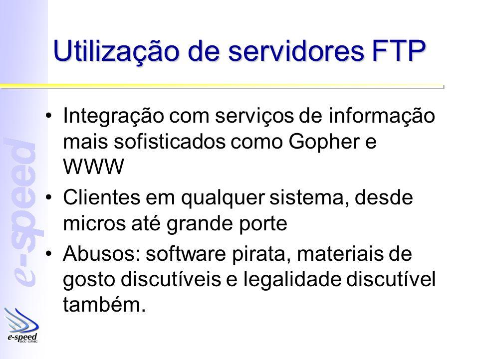 Utilização de servidores FTP