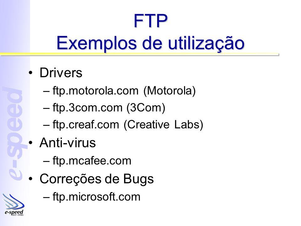 FTP Exemplos de utilização