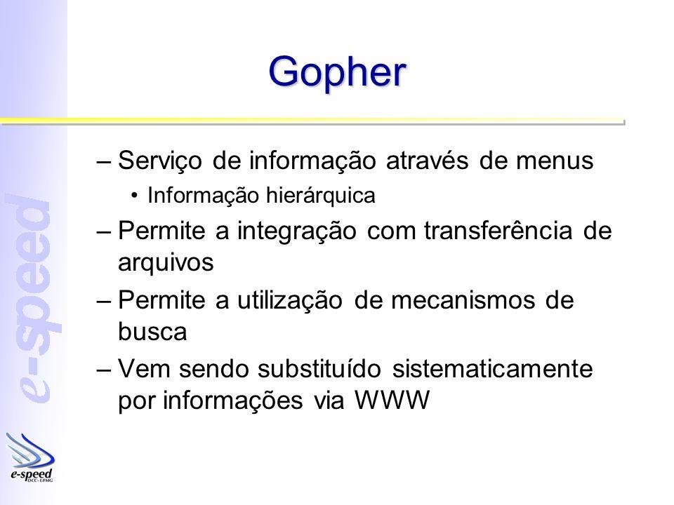Gopher Serviço de informação através de menus