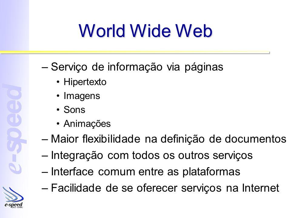 World Wide Web Serviço de informação via páginas