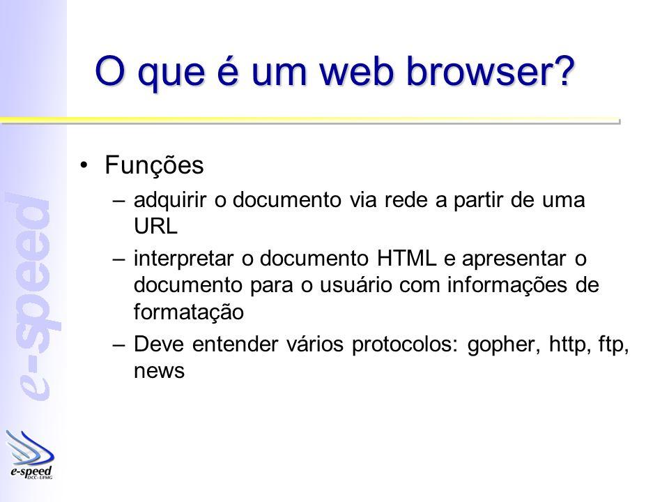 O que é um web browser Funções