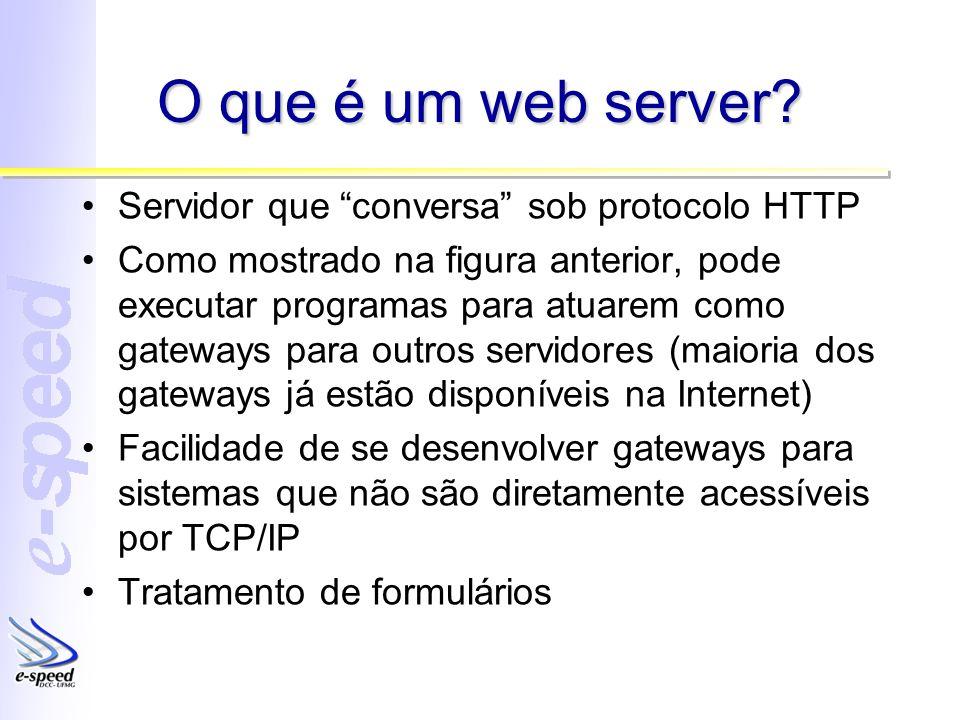O que é um web server Servidor que conversa sob protocolo HTTP