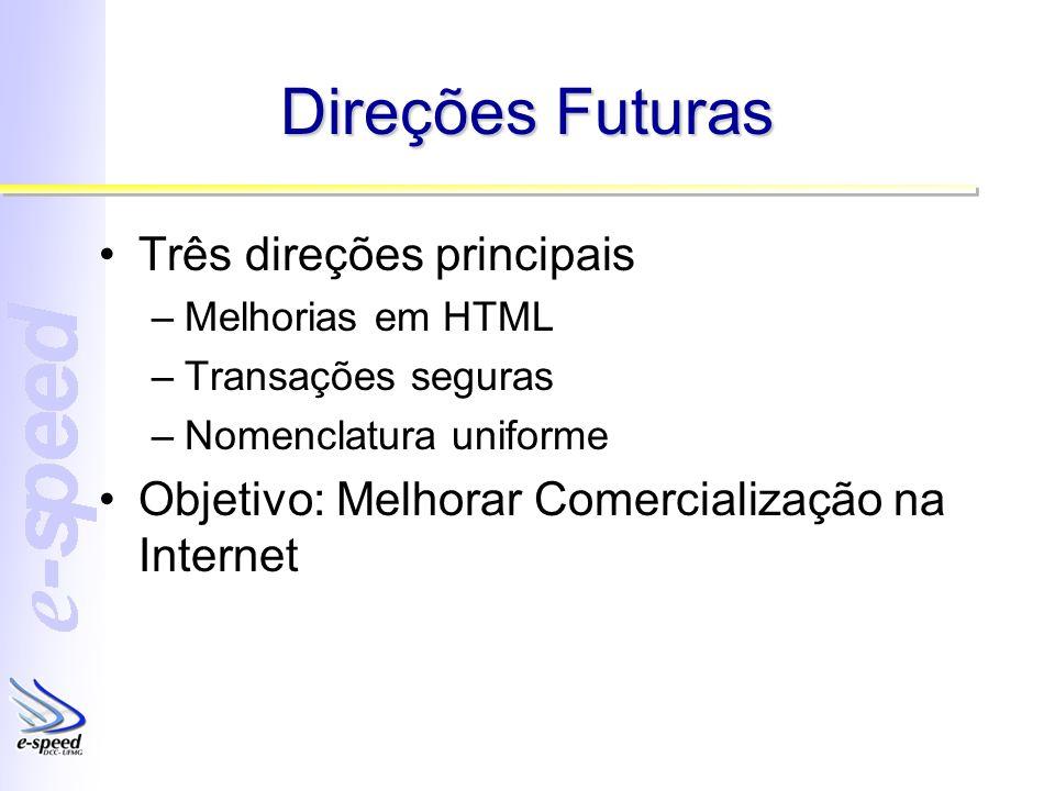 Direções Futuras Três direções principais
