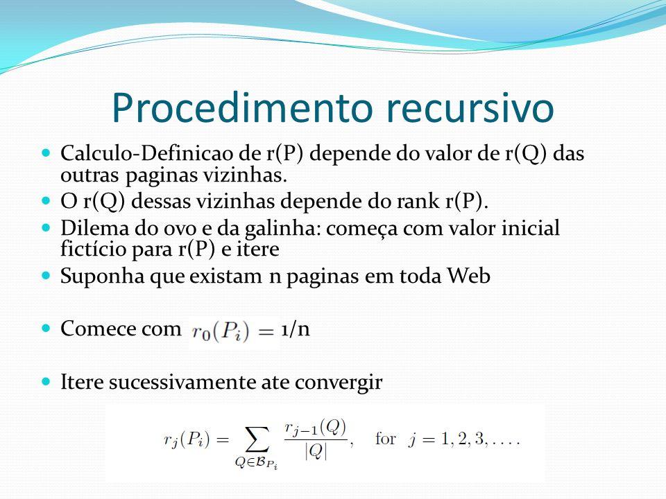 Procedimento recursivo