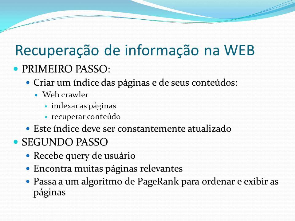 Recuperação de informação na WEB