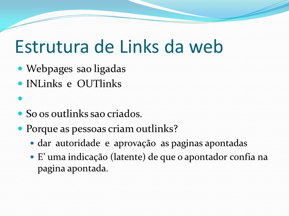 Estrutura de Links da web