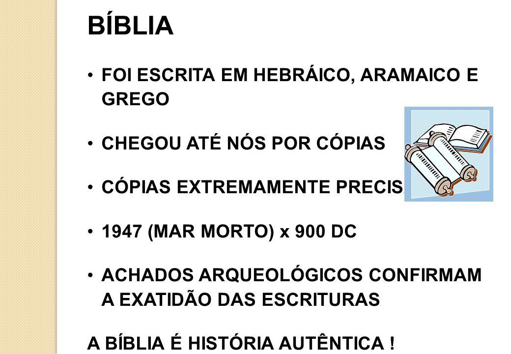 BÍBLIA FOI ESCRITA EM HEBRÁICO, ARAMAICO E GREGO