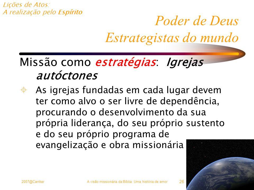 Poder de Deus Estrategistas do mundo