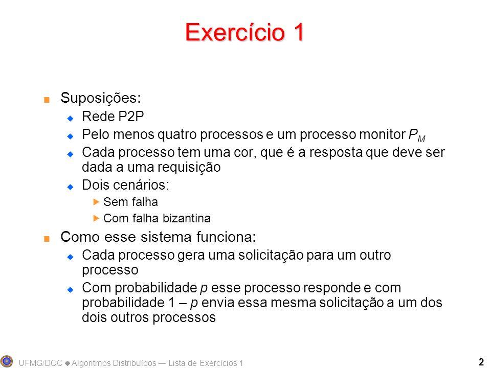 Exercício 1 Suposições: Como esse sistema funciona: Rede P2P