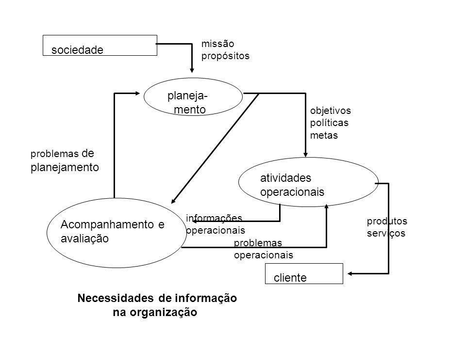 Necessidades de informação na organização