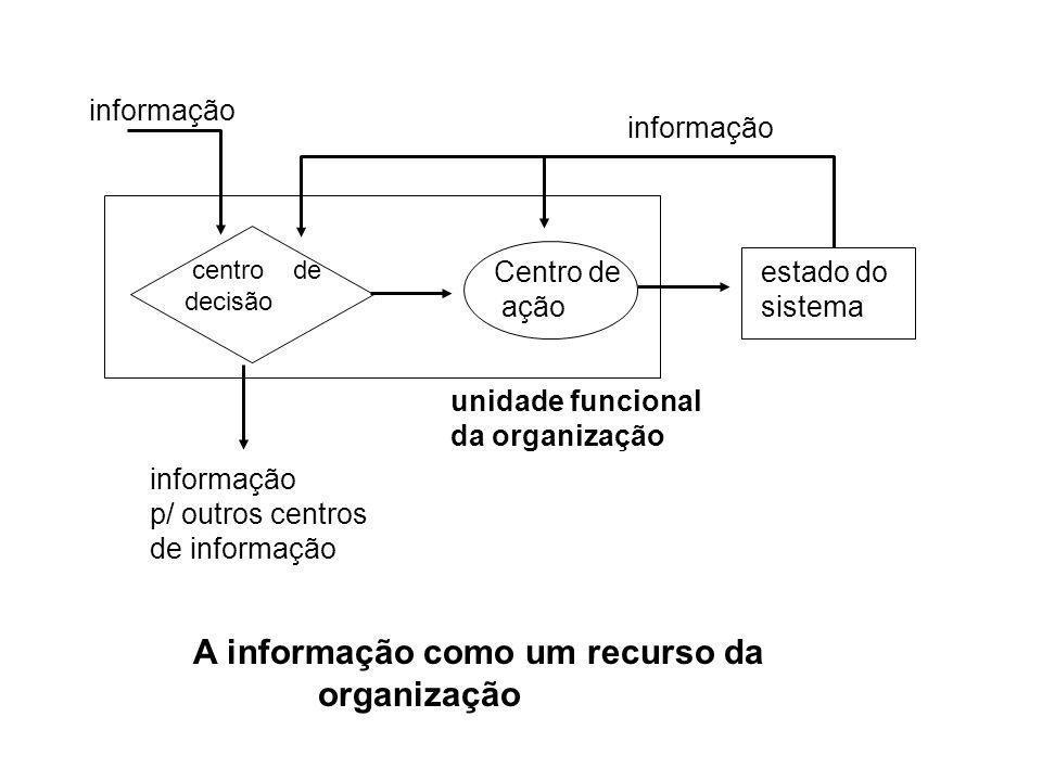 A informação como um recurso da organização