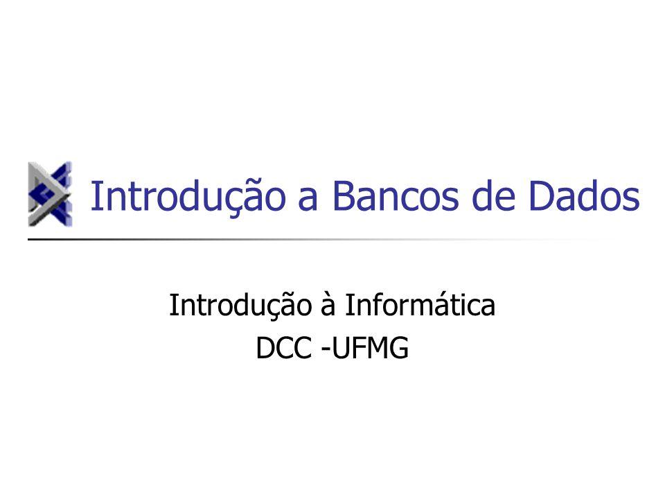 Introdução a Bancos de Dados